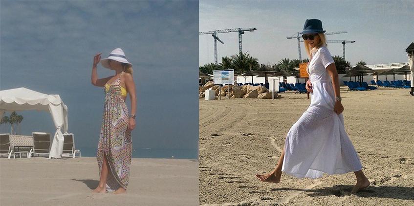 Валерия  отдыхала в Дубае.