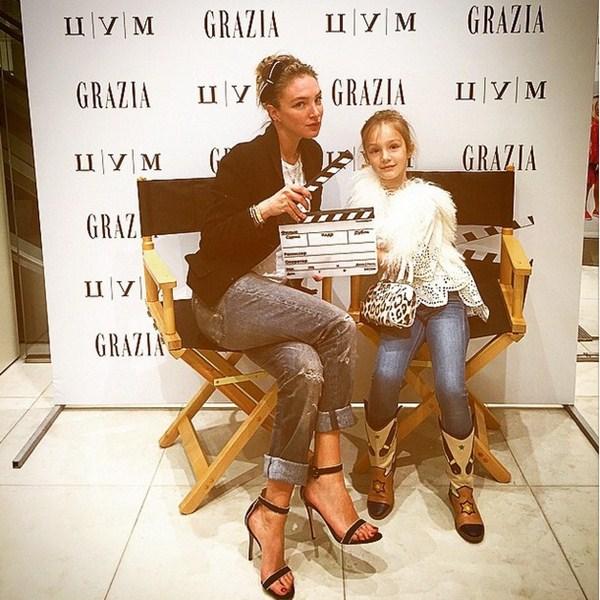 Алена Пенева отмечала выход детского номера журнала Grazia.