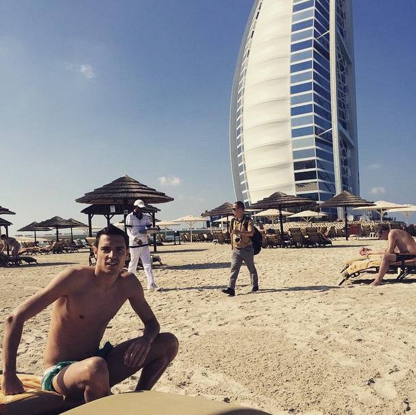 Полузащитник ЦСКА  Георги Миланов (22) в Дубае