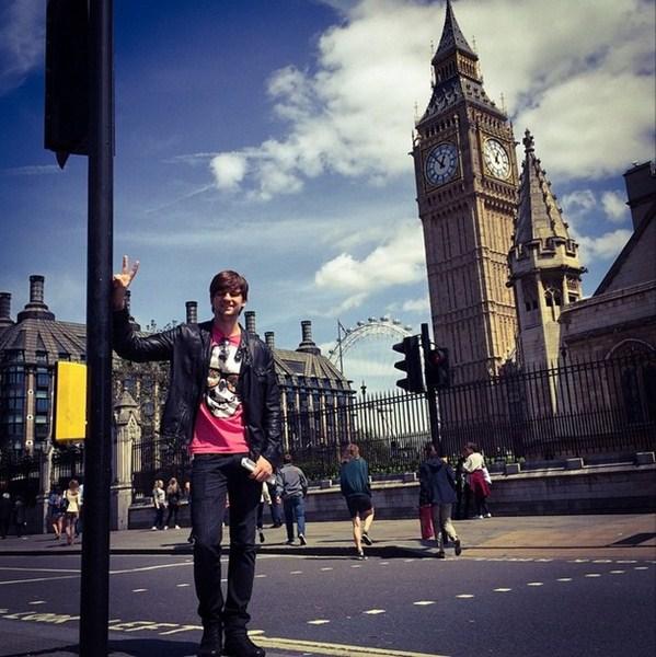 Дмитрий Колдун посетил все достопримечательности Лондона.