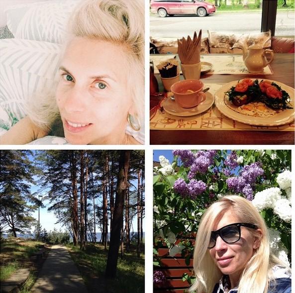 Алена Свиридова отдыхала в Юрмале.