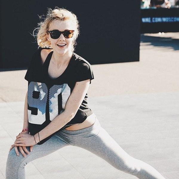 Юлианна Караулова занималась спортом в Парке Горького.