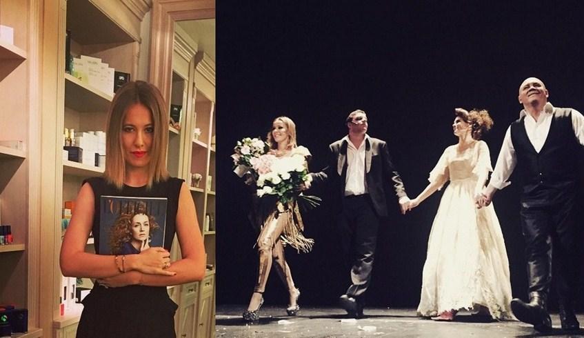 Ксения Собчак (33) обновила не только журнал, но и себя. С новой прической она отмечала первый выпуск журнала L'Officiel-Россия, созданный под ее руководством, и дебютировала на сцене.