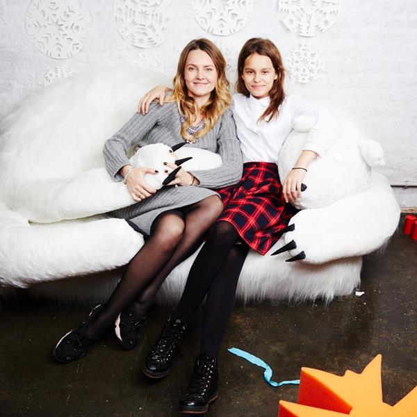 Екатерина Мухина с дочерью Марией