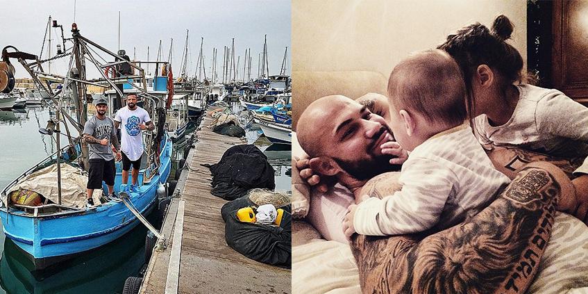 Джиган рыбачил в Тель-Авиве и привез добычу своей семье.