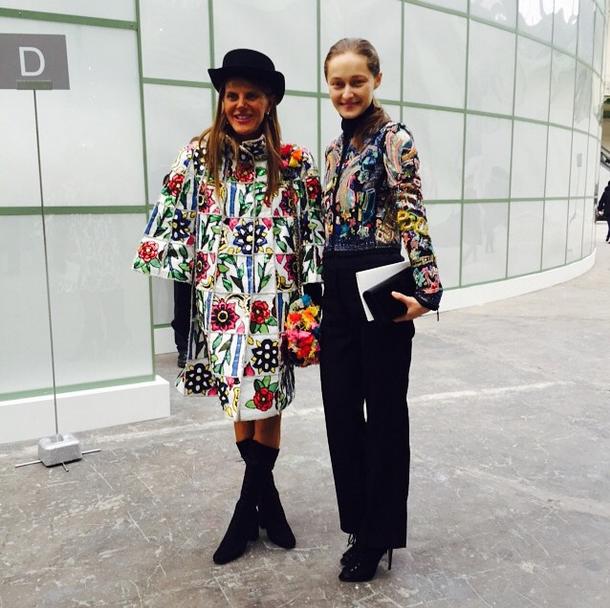 Креативный директор японского журнала Vogue Анна Делло Русо (52) и телеведущая Дарья Шаповалова (27)
