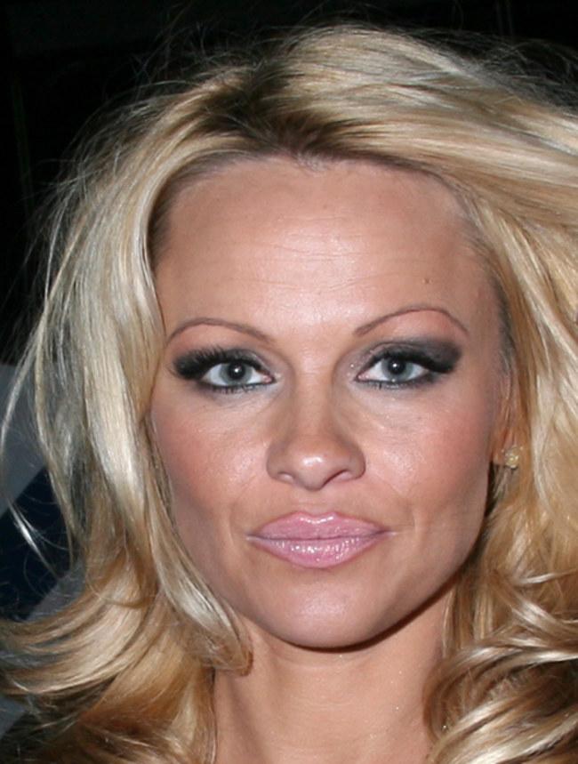 Памела Андерсон (47) использует один карандаш для бровей и губ