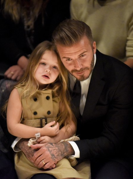 Дэвид Бэкхэм с дочерью Харпер