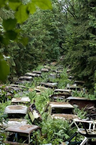 Кладбище автомобилей, Арденны, Бельгия.