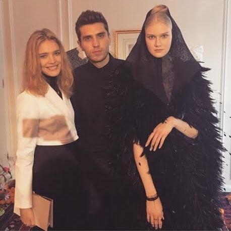 Модель и филантроп Наталья Водянова (32), представитель модного дома Ulyana Sergeenko Фрол Буримский (28) и модель Анна Мартынова