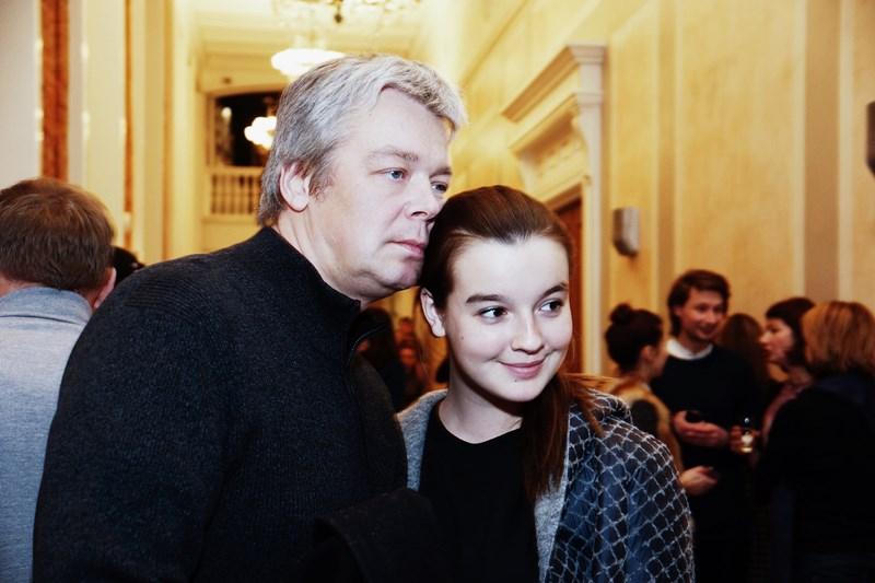 Александр Стриженов с дочерью Александрой