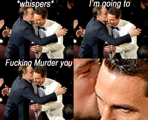 Лео грозится убить Мэттью Макконахи