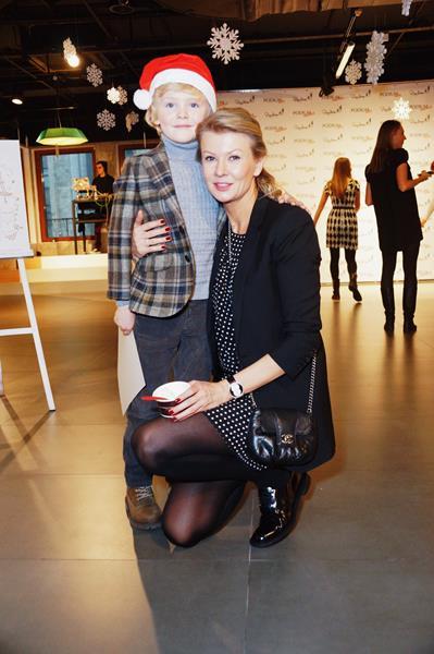 Виктория Борисевич с сыном Максимом