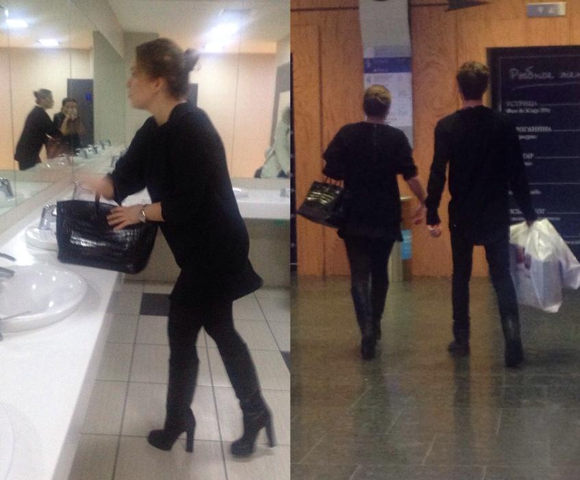 Ирина Дубцова (33) с «Биркин» в руках, собрав волосы не первой свежести в изящный пучок, посвятила воскресный день шопингу и просмотру кино.