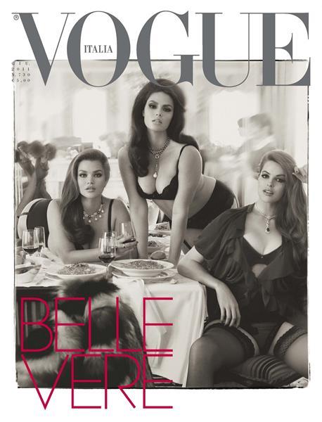 Тара Линн (32), Кэндис Хаффин (30) и Робин Лоули (24), журнал Vogue Italia, июнь 2011. Итальянский Vogue один из рекордсменов по количеству скандальных обложек и модных историй. А эта обложка вызвала волну возмущения во всем мире. Главный редактор журнала Франка Соццани приняла решение запечатлеть на ней трех моделей plus size: Тару Линн, Кэндис Хаффин и Робин Лоули после скандала с предыдущим номером, где на обложке была очень худая модель. В результате номер был продан двойным тиражом в США.
