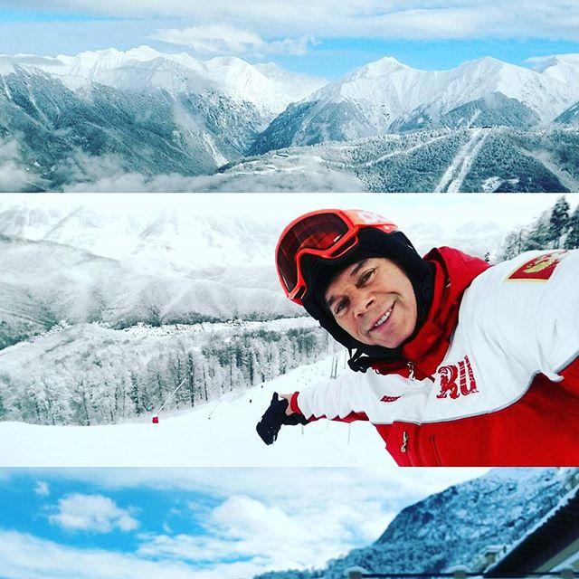 Олег Газманов покорял заснеженные склоны.