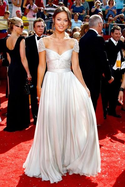 Актриса Оливия Уайлд (30) в платье Reem Acra. 2008 год.