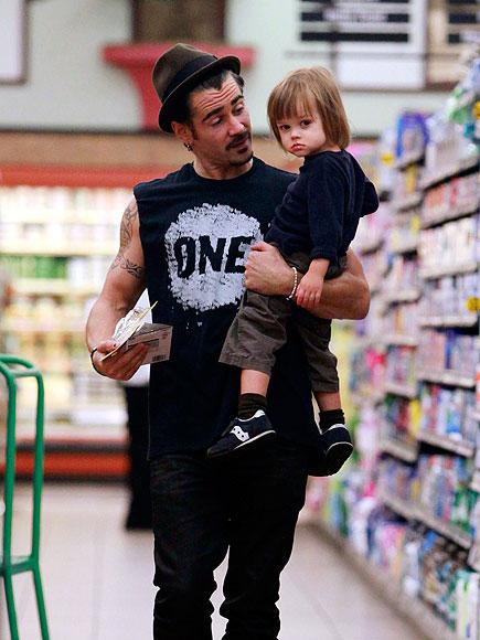 Актер Колин Фаррелл (38) с младшим сыном Генри (6)
