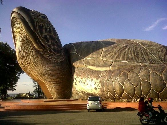 Дом - черепаха  в Индонезии.