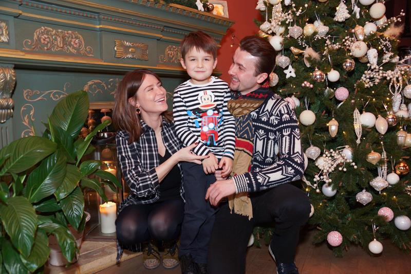 Федор и Ольга Погребняк с сыном Олегом