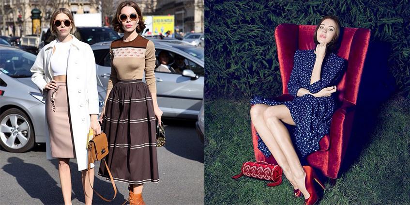 Ульяна Сергеенко приняла участие в благотворительном проекте Лены Перминовой  и выставила на аукцион свои модные образы.