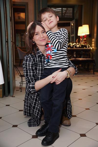 Ольга Погребняк с сыном Олегом