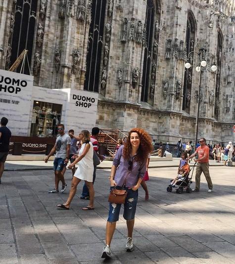 Наталья Зинько гуляла по Милану.