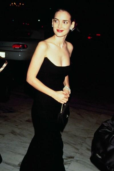 Актриса Вайнона Райдер (43). 1990  год.