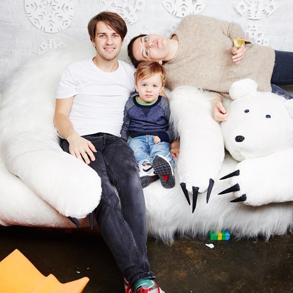 Анна Дюльгерова и Александр Егоршин с сыном Петром