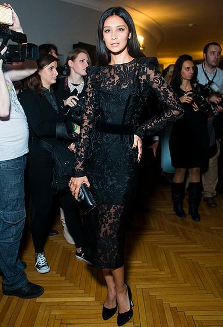 Платье кружевное знаменитостей