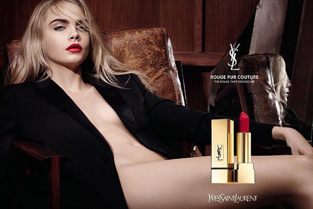 Кара Делевинь (23) в рекламе Yves Saint Laurent
