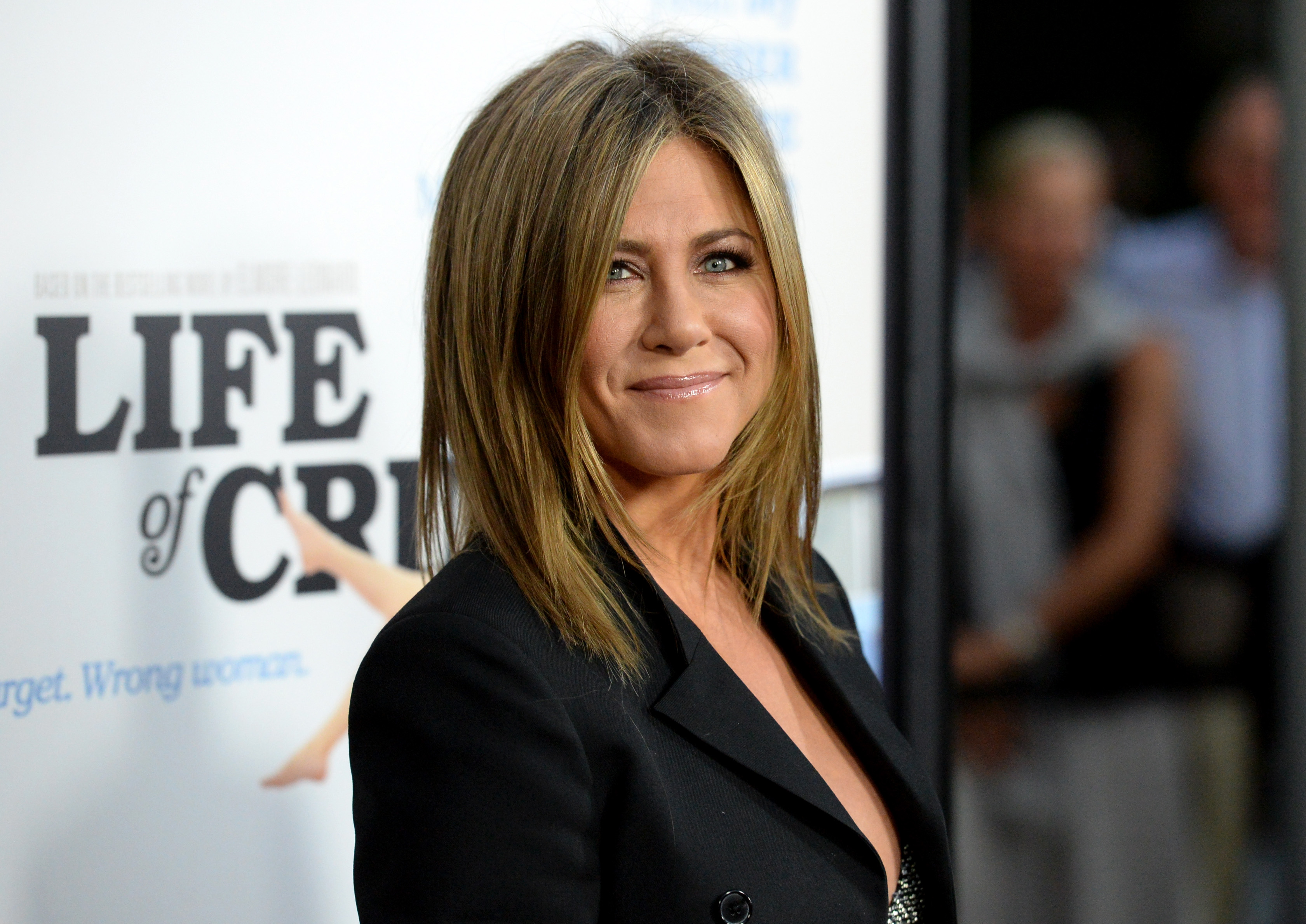 """HOLLYWOOD, CA - AUGUST 27:  Actress Jennifer Aniston attends the premiere of Lionsgate and Roadside Attractions' """"Life of Crime"""" at ArcLight Cinemas on August 27, 2014 in Hollywood, California.  (Photo by Jason Merritt/Getty Images)"""