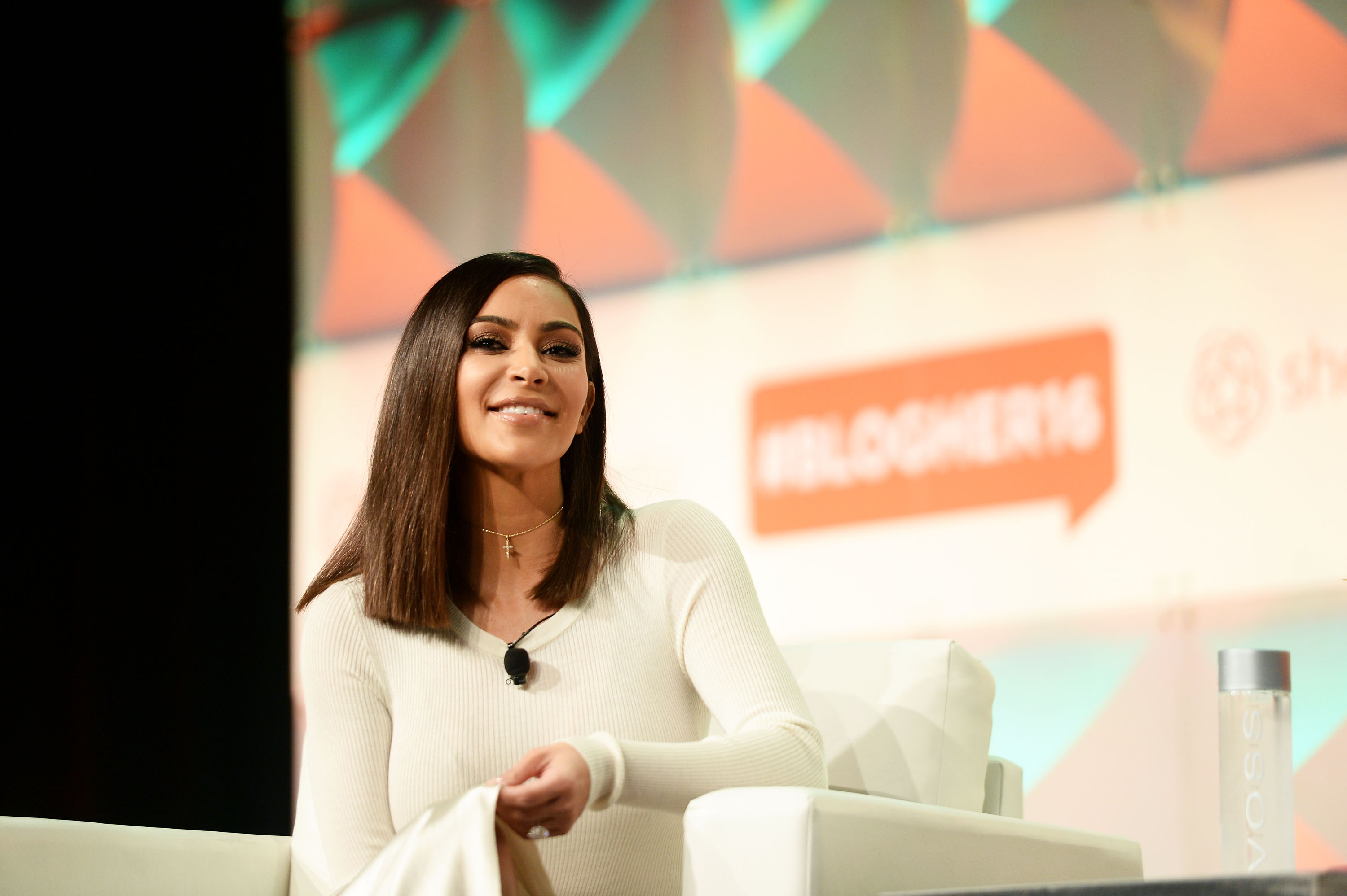 LOS ANGELES, CA - AUGUST 05: Kim Kardashian West speaks during the #BlogHer16 Experts Among Us conference at JW Marriott Los Angeles at JW Marriott Los Angeles at L.A. LIVE on August 5, 2016 in Los Angeles, California. (Photo by Matt Winkelmeyer/Getty Images)