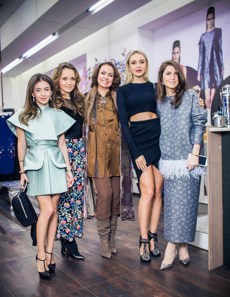 Ольга Калаева, Катя Добрякова, Лина Курбанова, Ксения Сухинова и Лаура Джугелия