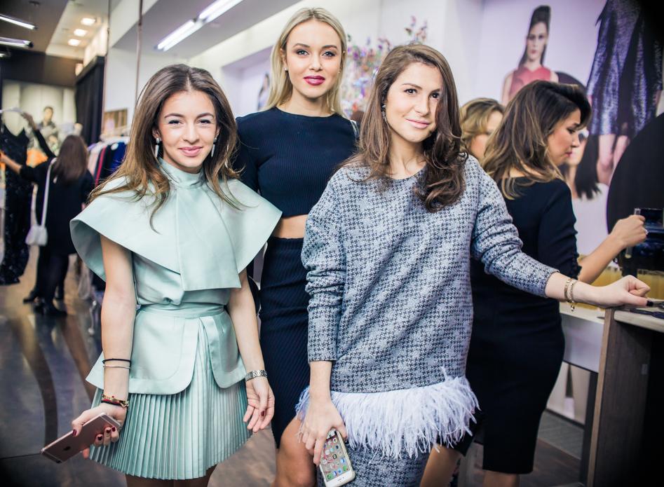 Ольга Калаева, Ксения Сухинова и Лаура Джугелия