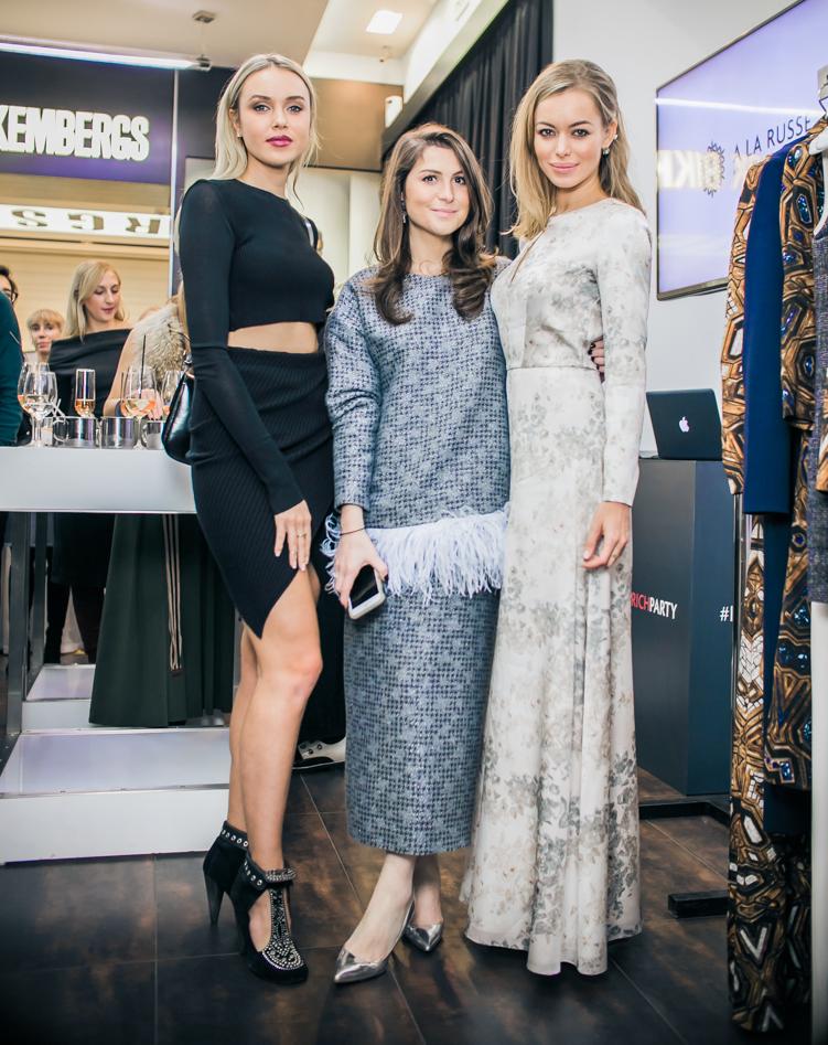 Ксения Сухинова, Лаура Джугелия и Анастасия Романцова
