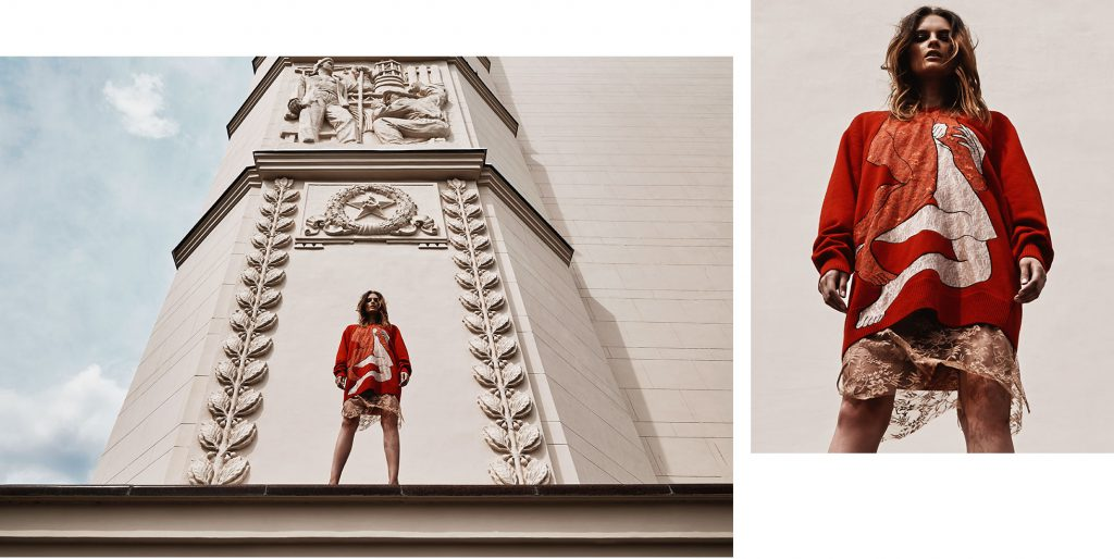 LOOK 2 – платье CHRISTOPHER KANE, юбка GUCCI