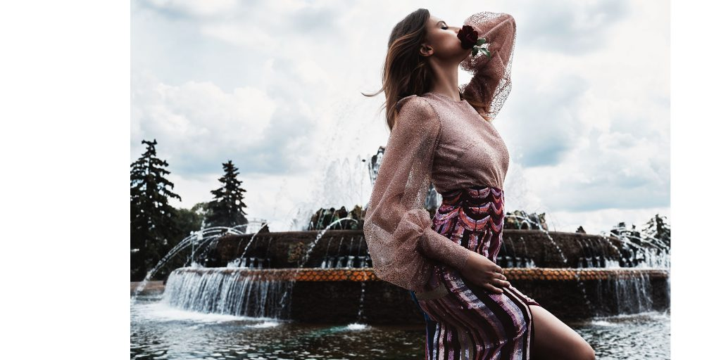 LOOK 6 – топ и юбка OLYMPIA LE-TAN