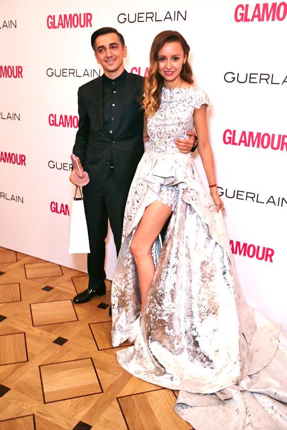 Мурад и Наталья Османн в платье Tony Ward