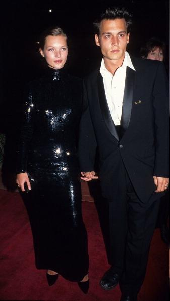 Кейт Мосс и Джонни Депп (1995)