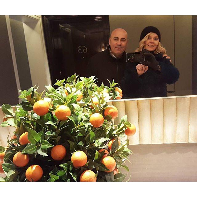 Валерия делилась мандаринами