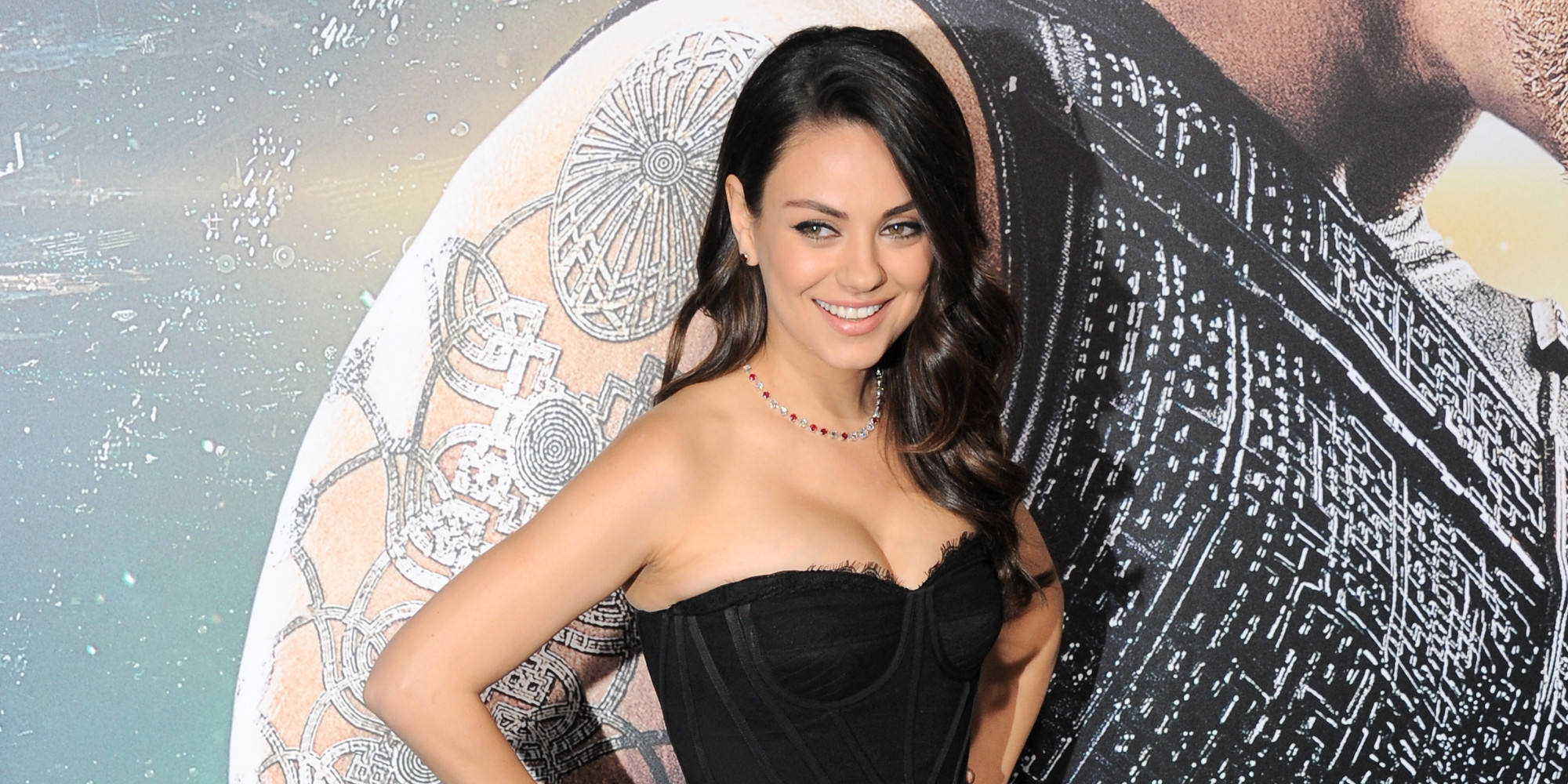 HOLLYWOOD, CA - FEBRUARY 02: Actress Mila Kunis arrives for the Premiere Of Warner Bros. Pictures'