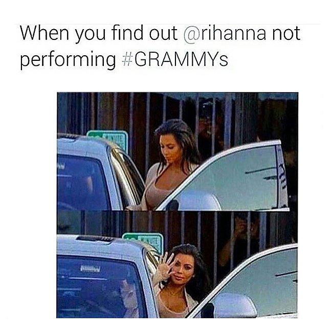 Когда узнала, что Рианна не выступит на «Грэмми»