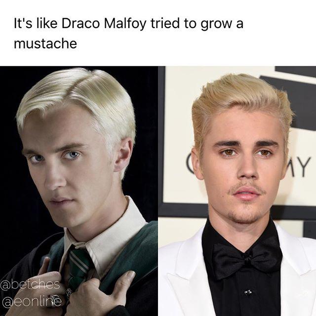 Драко Малфой отрастил усы?