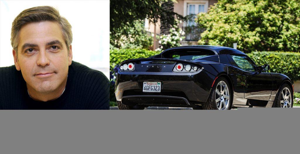 Джордж Клуни (54) Tesla Roadster
