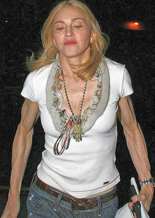 И снова Мадонна (57), которая здесь могла бы посоревноваться с самим Шварценнегером