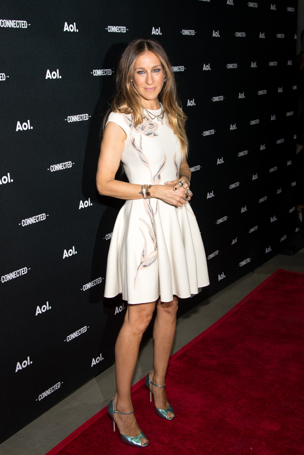 NEW YORK, NY - APRIL 29: Actress Sarah Jessica Parker attends the 2014 AOL Digital Content NewFronts at the Duggal Greenhouse on April 29, 2014 in the Brooklyn borough of New York City. (Photo by Mike Pont/FilmMagic)