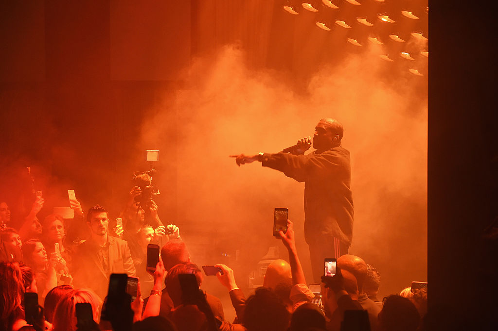 NEW YORK, NY - SEPTEMBER 09:  Kanye West performs during Harper's Bazaar's celebration of