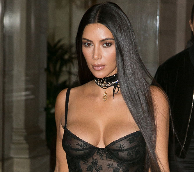 Kim Kardashian & Kany West Sighting  : Day Three Paris Fashion Week Spring/Summer 2017