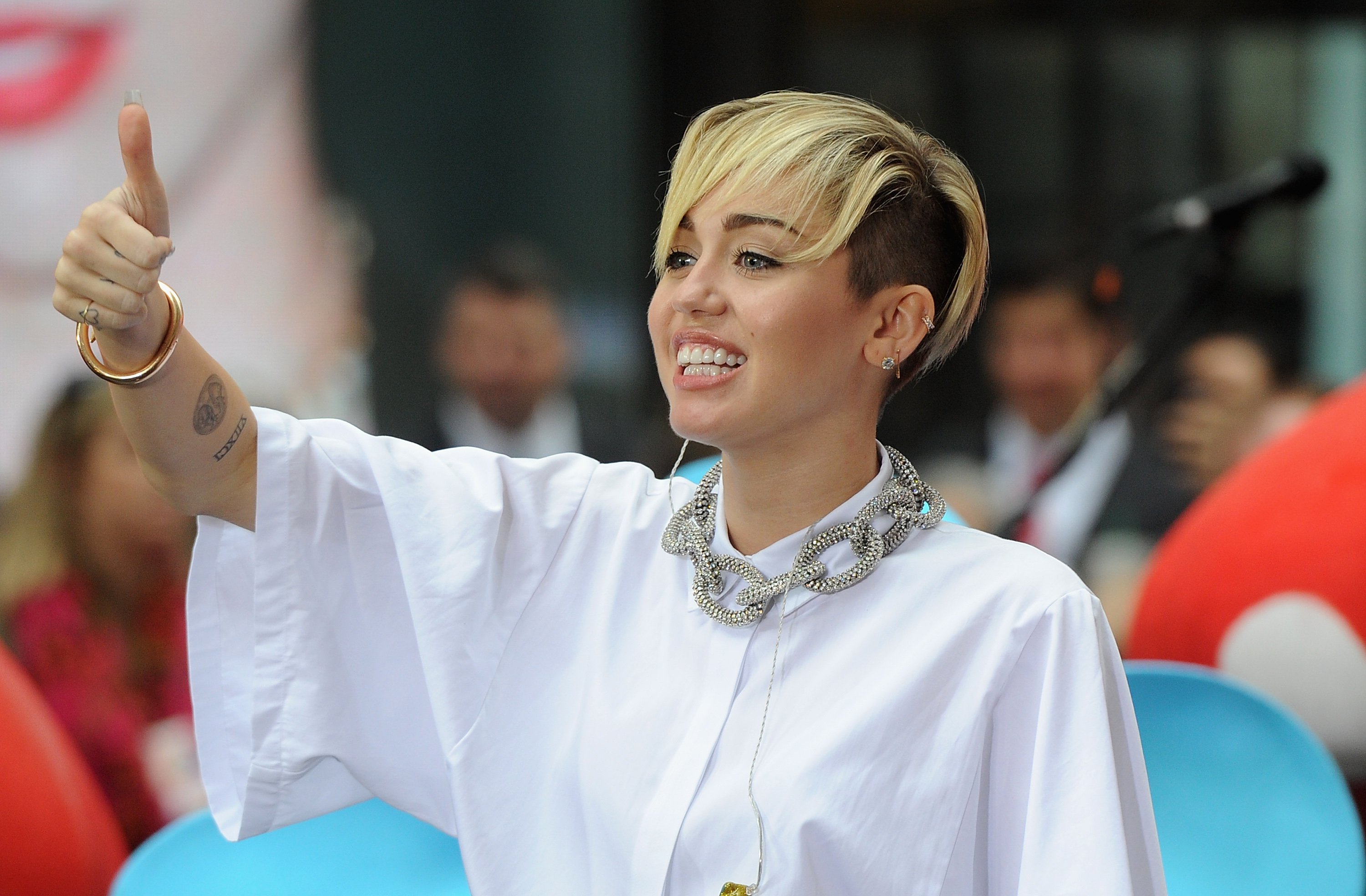 Miley Cyrus Performs On NBC's